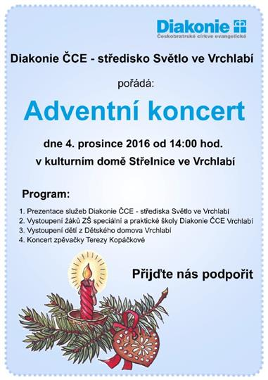 Adventní koncert Diakonie ČCE
